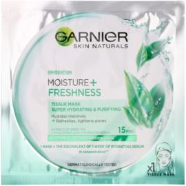 Garnier Skin Naturals Moisture+Freshness super hydratačná čistiaca textilná maska pre normálnu až zmiešanú pleť  32 g