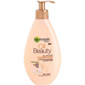 Garnier Oil Beauty vyživujúce olejové telové mlieko pre suchú pokožku  250 ml