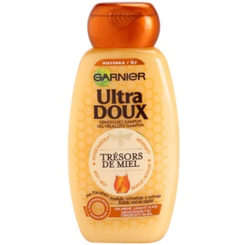 Garnier Ultra Doux obnovitveni šampon za lomljive in izčrpane lase matični mleček, med in propolis  250 ml