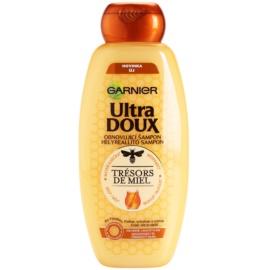 Garnier Ultra Doux відновлюючий шампунь для ламкого та втомленого волосся маточне молочко, мед та прополіс  400 мл