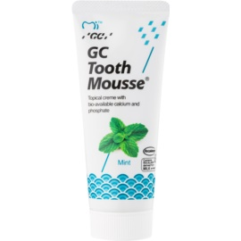 GC Tooth Mousse Mint creme protetor remineralizante para dentes sensíveis sem fluór para uso profissional  35 ml