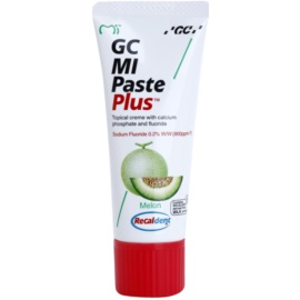 GC MI Paste Plus Melon Crema protectoare de remineralizare pentru dinți sensibili cu flor pentru uz profesonial  35 ml