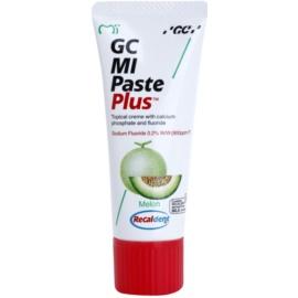 GC MI Paste Plus Melon remineralizačný ochranný krém pre citlivé zuby s fluoridom pre profesionálne použitie  35 ml
