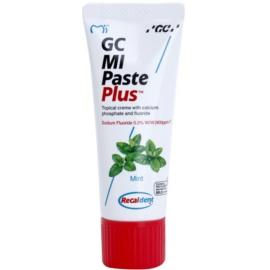 GC MI Paste Plus Mint ásványfeltöltő védőkrém az érzékeny fogakra fluoriddal professzionális használatra  35 ml