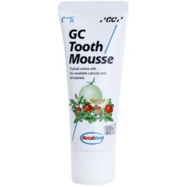 GC Tooth Mousse Melon ásványfeltöltő védőkrém az érzékeny fogakra fluoridmentes professzionális használatra  35 ml