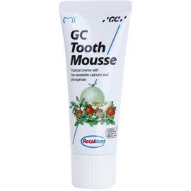 GC Tooth Mousse Strawberry remineralizační ochranný krém pro citlivé zuby bez fluoridu pro profesionální použití  35 ml