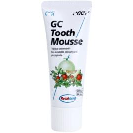 GC Tooth Mousse Vanilla ásványfeltöltő védőkrém az érzékeny fogakra fluoridmentes professzionális használatra  35 ml