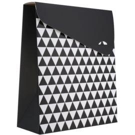 Giftino      Pungă cadou, model geometric - mică (100 x 40 x 195 mm)