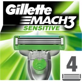 Gillette Mach 3 Sensitive recambios de cuchillas  4 ud