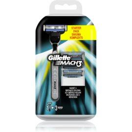 Gillette Mach 3 maquinilla de afeitar + recambios de cuchillas 3 uds