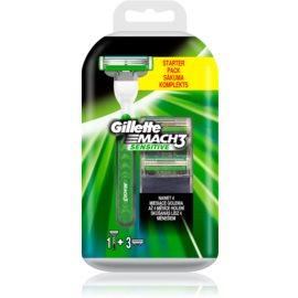 Gillette Mach 3 Sensitive maszynka do golenia zapasowe ostrza 3 szt.