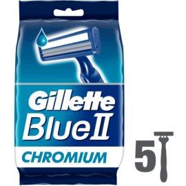 Gillette Blue II jednorazowe maszynki do golenia  5 szt.