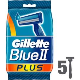 Gillette Blue II Plus One Time Razors  5 pc