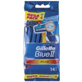 Gillette Blue II Plus One Time Razors  14 pc