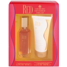 Giorgio Beverly Hills Red dárková sada I. toaletní voda 90 ml + tělové mléko 200 ml