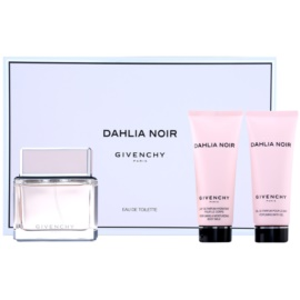 Givenchy Dahlia Noir dárková sada VII. toaletní voda 75 ml + tělové mléko 75 ml + sprchový gel 75 ml