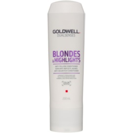 Goldwell Dualsenses Blondes & Highlights balsamo per capelli biondi neutralizzante per toni gialli  200 ml