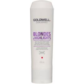 Goldwell Dualsenses Blondes & Highlights Conditioner für blondes Haar neutralisiert gelbe Verfärbungen  200 ml