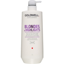 Goldwell Dualsenses Blondes & Highlights balsamo per capelli biondi neutralizzante per toni gialli  1000 ml