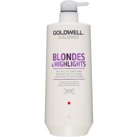 Goldwell Dualsenses Blondes & Highlights Conditioner für blondes Haar neutralisiert gelbe Verfärbungen  1000 ml
