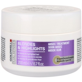 Goldwell Dualsenses Blondes & Highlights Masker  voor Highlighted Haar   200 ml