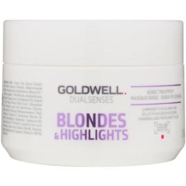 Goldwell Dualsenses Blondes & Highlights regenererende sheet mask neutraliseert gele Tinten  200 ml