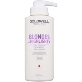 Goldwell Dualsenses Blondes & Highlights regenererende sheet mask neutraliseert gele Tinten  500 ml