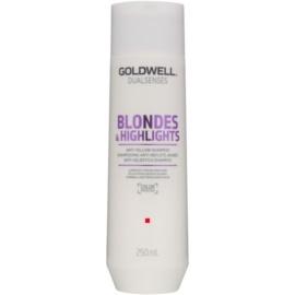 Goldwell Dualsenses Blondes & Highlights szampon do blond włosów neutralizujący żółtawe odcienie  250 ml