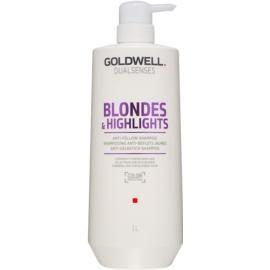 Goldwell Dualsenses Blondes & Highlights szampon do blond włosów neutralizujący żółtawe odcienie  1000 ml