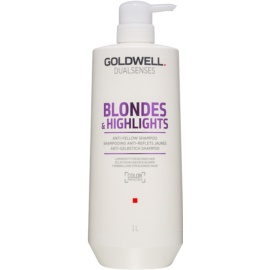 Goldwell Dualsenses Blondes & Highlights Shampoo for Blonde Hair for Yellow Tones Neutralization  1000 ml