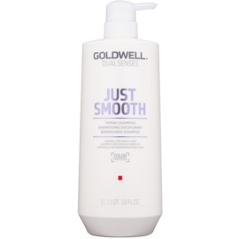 Goldwell Dualsenses Just Smooth champú alisador para cabello rebelde  1000 ml