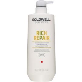 Goldwell Dualsenses Rich Repair erneuernder Conditioner für trockenes und beschädigtes Haar  1000 ml