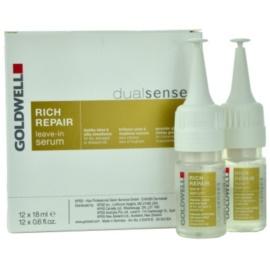 Goldwell Dualsenses Rich Repair regenerační a zpevňující sérum pro suché a poškozené vlasy  12x18 ml