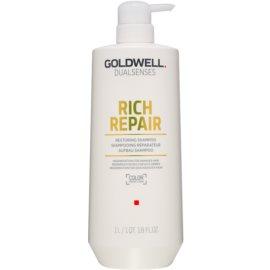 Goldwell Dualsenses Rich Repair champú reparador para cabello seco y dañado  1000 ml