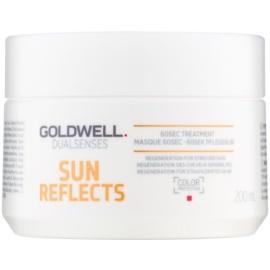 Goldwell Dualsenses Sun Reflects máscara regeneradora para cabelo danificado pelas ações do sol, cloro e sal  200 ml