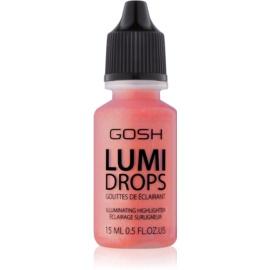Gosh Lumi Drops fard de obraz lichid culoare 010 Coral Blush 15 ml
