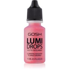 Gosh Lumi Drops fard de obraz lichid culoare 008 Rose Blush 15 ml