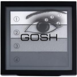 Gosh Smokey paleta farduri de ochi culoare 01 Black 8 g