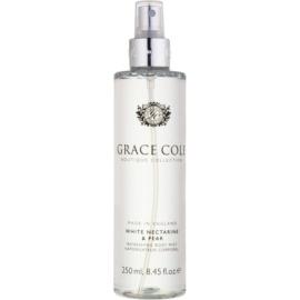 Grace Cole Boutique White Nectarine & Pear освежаващ спрей за тяло  250 мл.