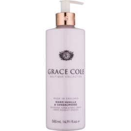 Grace Cole Boutique Warm Vanilla & Sandalwood Softening Hand and Nail Cream  500 ml