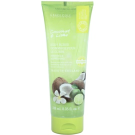 Grace Cole Fruit Works Coconut & Lime frissítő testpeeling  238 ml