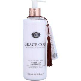Grace Cole Boutique Ginger Lily & Mandarin zjemňující krém na ruce a nehty  500 ml