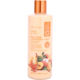 Grace Cole Fruit Works Peach & Pear hydratačné telové mlieko bez parabénov  500 ml