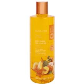 Grace Cole Fruit Works Peach & Pear felfrissítő tusfürdő gél parabénmentes  500 ml
