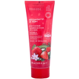Grace Cole Fruit Works Strawberry & Kiwi osvěžující tělový peeling  238 ml