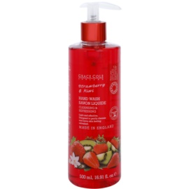 Grace Cole Fruit Works Strawberry & Kiwi tekuté mýdlo na ruce  500 ml