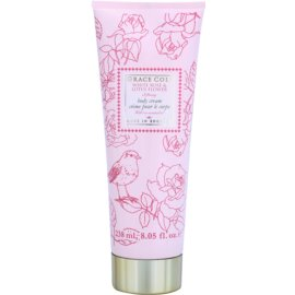Grace Cole Floral Collection White Rose & Lotus Flower telový krém  238 ml