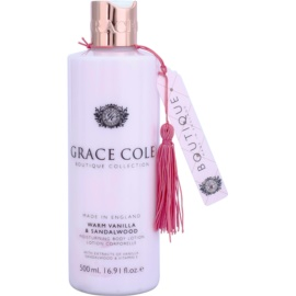 Grace Cole Boutique Warm Vanilla & Sandalwood vlažilni losjon za telo  500 ml