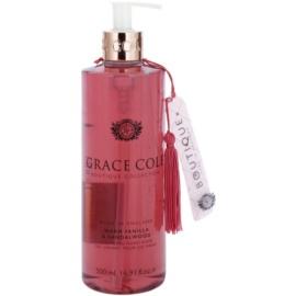 Grace Cole Boutique Warm Vanilla & Sandalwood tekuté mydlo na ruky  500 ml