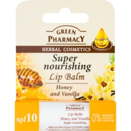 Green Pharmacy Lip Care nährender Lippenbalsam SPF 10 ohne Silikone, Parabene und Farbstoffe  3,6 g